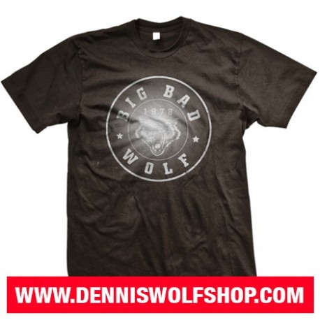 "T-Shirt ""Big Bad Wolf"" / black-gray"